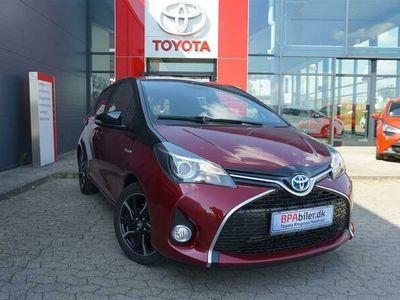 brugt Toyota Yaris 1,5 Hybrid Spirit E-CVT 100HK 5d Trinl. Gear A++