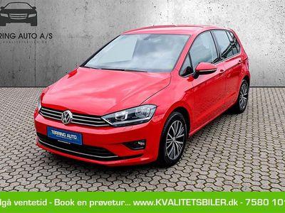 brugt VW Golf Sportsvan 1,6 TDI BMT Allstar DSG 115HK 7g Aut. - Personbil - rød