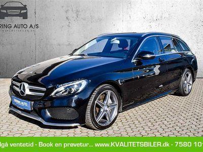 brugt Mercedes C220 d 2,1 D 7G-Tronic Plus 170HK Stc Aut. - Personbil - sort