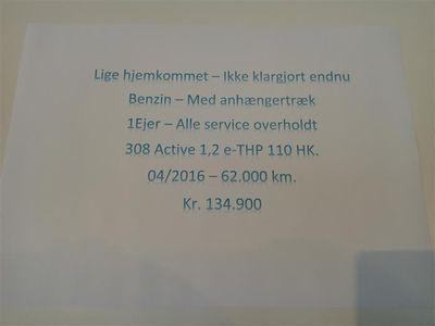 brugt Peugeot 308 1,2 e-THP Active 110HK 5d