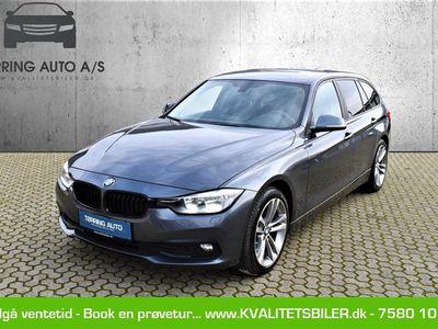 brugt BMW 320 d Touring 2,0 D Steptronic 190HK Stc 8g Aut. - Personbil - gråmetal