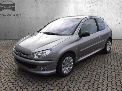 brugt Peugeot 206 1,6 S16 110HK 3d - Personbil - sølvmetal