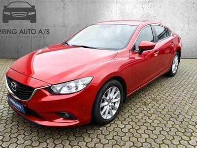 brugt Mazda 6 2,2 Skyactiv-D Vision 150HK 6g Aut. - Personbil - rødmetal