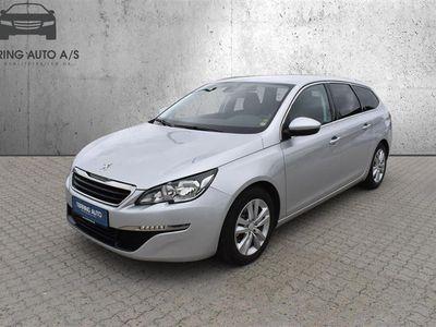 brugt Peugeot 308 SW 1,6 BlueHDi Active 120HK Stc 6g - Personbil - Sølvmetal