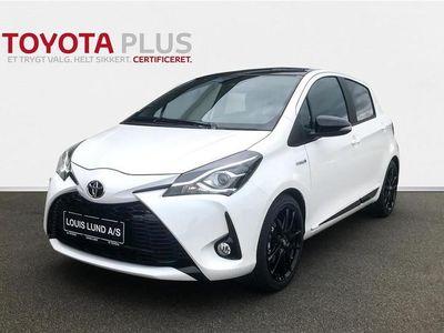 brugt Toyota Yaris 1,5 B/EL H3 GR Sport Smartpakke E-CVT 100HK 5d Trinl. Gear A+++