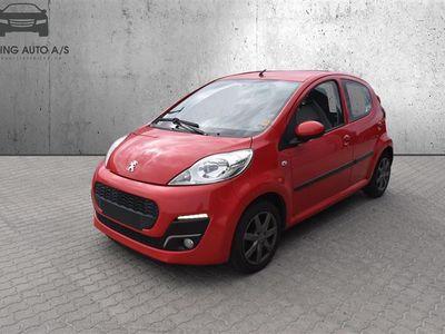 brugt Peugeot 107 1,0 Active 68HK 5d - Personbil - rødmetal