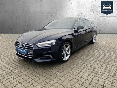 brugt Audi A5 Sportback 2,0 TDI Sport S Tronic 190HK 5d 7g Aut. - Personbil - Mørkblåmetal