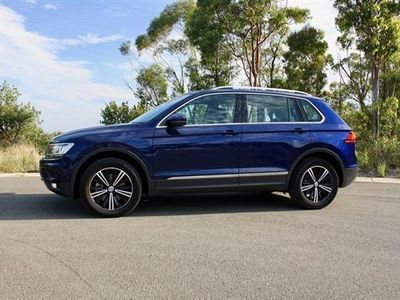 brugt VW Tiguan 2,0 TDI BMT SCR Highline 4Motion DSG 190HK 5d 7g Aut. - Personbil - Blåmetal