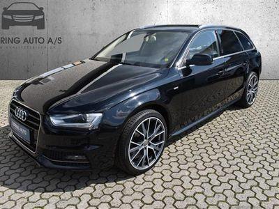 brugt Audi A4 Avant 2,0 TDI Multitr. 150HK Stc Trinl. Gear - Personbil - sortmetal