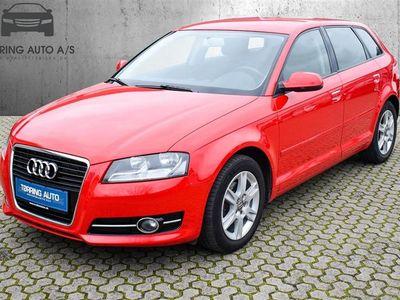 brugt Audi A3 Sportback 1,6 TDI DPF Ambiente 105HK Stc - Personbil - rød