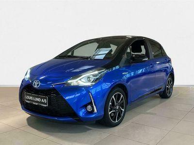 brugt Toyota Yaris 1,5 Hybrid Flavour BLÅ E-CVT 100HK 5d Trinl. Gear A++