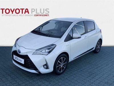 brugt Toyota Yaris Hybrid 1,5 B/EL Smart E-CVT 100HK 5d Trinl. Gear