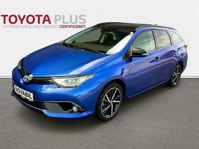 brugt Toyota Auris Touring Sports 1,8 Hybrid H2 Selected Bi-tone 136HK Stc Aut.
