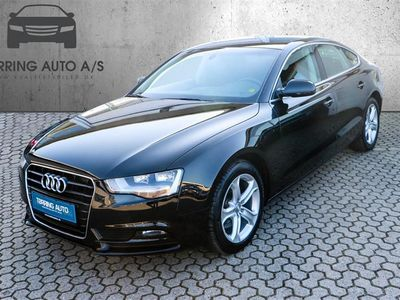 brugt Audi A5 Sportback 2,0 TDI Multitr. 150HK 5d 8g Trinl. Gear - Personbil - sort