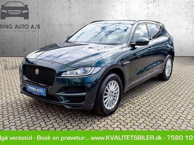 brugt Jaguar F-Pace 2,0 D Pure AWD 180HK 5d 8g Aut. - Personbil - grønmetal