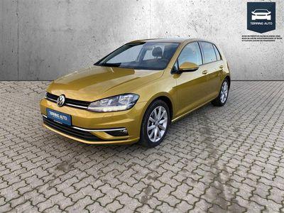 brugt VW Golf 1,5 TSI BMT EVO Highline DSG 150HK 5d 7g Aut. - Personbil - Guldmetal