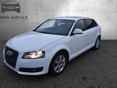 brugt Audi A3 Sportback 2,0 TDI DPF Attraction 140HK 5d 6g - Personbil - Hvid