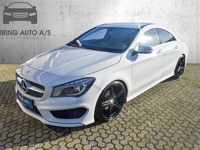 brugt Mercedes CLA200 1,6 7G-DCT 156HK 4d 7g Aut. - Personbil - hvid