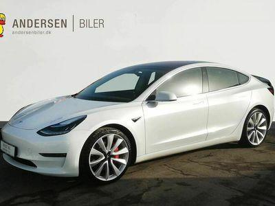 brugt Tesla Model 3 EL Long Range Performance AWD 461HK Trinl. Gear