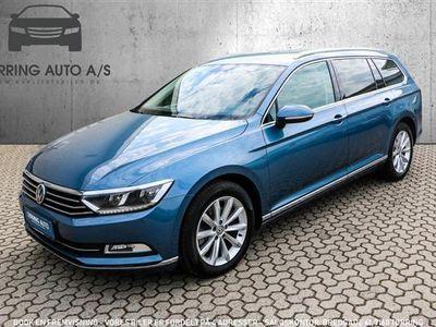 gebraucht VW Passat Variant 2,0 TDI BMT Highline Plus DSG 190HK Stc 6g Aut. - Personbil - Lysblåmetal