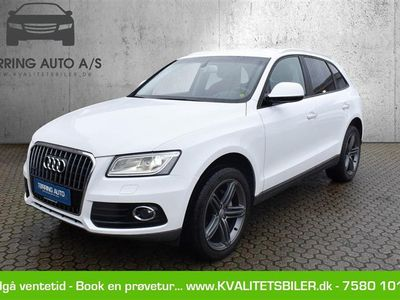 brugt Audi Q5 2,0 TDI Quat S Tron 190HK 5d 7g Aut. - Personbil - hvid