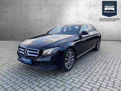 brugt Mercedes E220 2,0 D Business 9G-Tronic 194HK 9g Aut. - Personbil - Sort