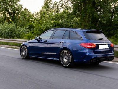 brugt Mercedes C220 d T 2,1 Bluetec 170HK Stc 6g - Personbil - blåmetal