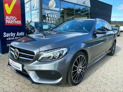 brugt Mercedes C220 d AMG Line stc. aut. 4Matic