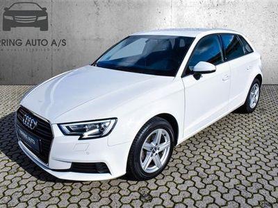 brugt Audi A3 Sportback 1,6 TDI 116HK Stc 6g - Personbil - hvid