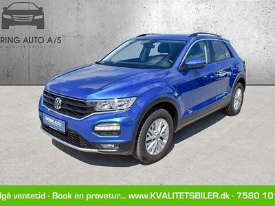brugt VW T-Roc 1,5 TSI ACT Style DSG 150HK 5d 7g Aut. - Personbil - blåmetal Ravenna Blue