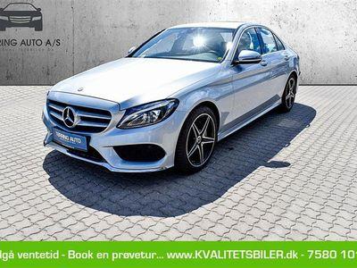 brugt Mercedes C200 d 2,1 D Business 7G-Tronic Plus 136HK 7g Aut. - Personbil - sølvmetal