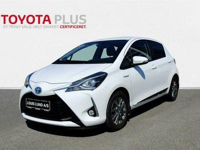 brugt Toyota Yaris Hybrid 1,5 B/EL Exclusive E-CVT 100HK 5d Trinl. Gear A+++
