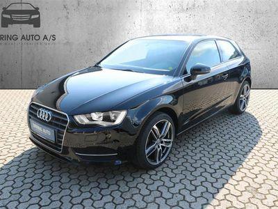 brugt Audi A3 1,2 TFSI Attraction 110HK 3d 6g - Personbil - sort