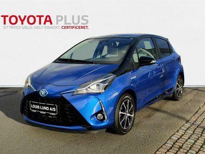 brugt Toyota Yaris 1,5 B/EL H3 Premiumpakke E-CVT 100HK 5d Trinl. Gear A+++