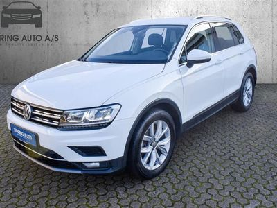 brugt VW Tiguan 2,0 TDI BMT SCR Highline DSG 150HK 5d 7g Aut. - Personbil - hvid