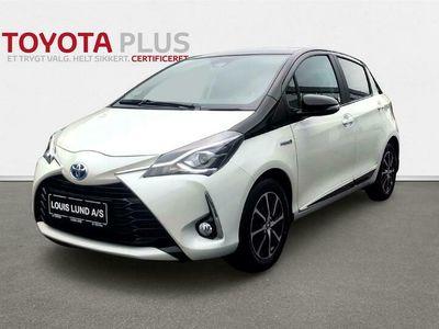 brugt Toyota Yaris Hybrid 1,5 B/EL Limited Premium E-CVT 100HK 5d Trinl. Gear A+++