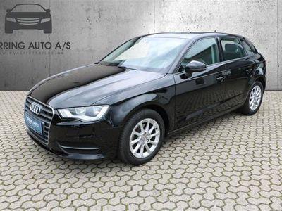 brugt Audi A3 Sportback 1,4 TFSI Attraction 125HK Stc - Personbil - sort
