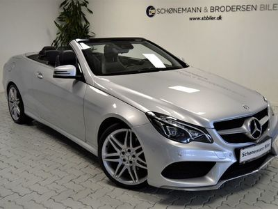 brugt Mercedes E350 0 BlueTEC AMG Line Cabriolet aut