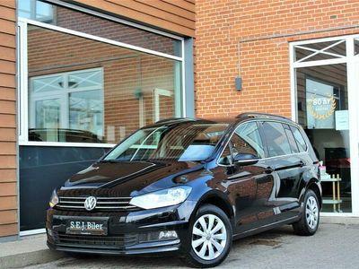 brugt VW Touran 1,6 TDI SCR Comfortline DSG 115HK 7g Aut. A+