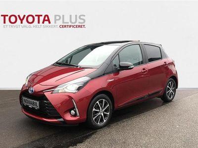 brugt Toyota Yaris Hybrid 1,5 B/EL Limited Premium E-CVT 100HK 5d Trinl. Gear