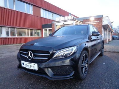 brugt Mercedes C220 d 2,2 AMG Line stc.