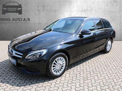 brugt Mercedes C200 T 1,6 D 7G-Tronic Plus 136HK Stc 7g Aut. - Personbil - sort