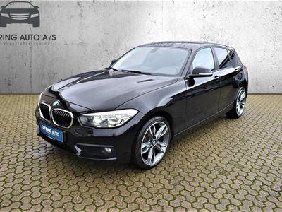 brugt BMW 116 i 1,6 136HK 5d 6g - Personbil - sort