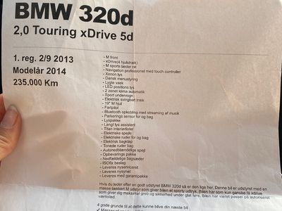 brugt BMW 320 3-Serie d Touring xDrive