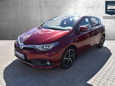 brugt Toyota Auris 1,8 B/EL Spirit 136HK 5d Aut. - Personbil - Rød