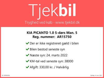 brugt Kia Picanto 1.0 5-dørs Man. 5 50.