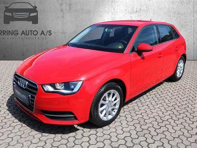 brugt Audi A3 Sportback 1,4 TFSI Attraction S Tronic 125HK 5d Aut. - Personbil - Rød