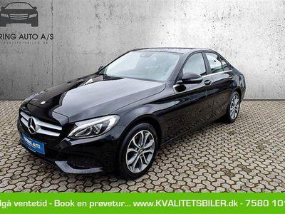 brugt Mercedes C220 d 2,1 Bluetec 170HK 6g - Personbil - sortmetal
