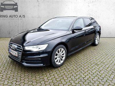 brugt Audi A6 Avant 3,0 TDI Multitr. 204HK Stc 8g Trinl. Gear - Personbil - sort