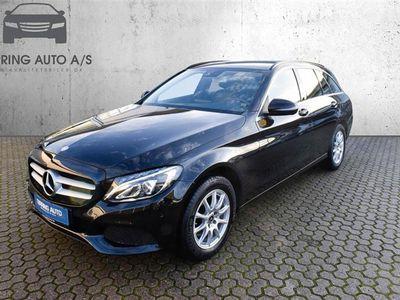 brugt Mercedes C200 T 2,0 184HK Stc 6g - Personbil - sortmetal